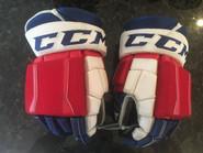 "CCM U+ CL Pro Stock Custom Hockey Gloves 15"" Hartford Wolfpack AHL used ."