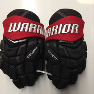 "Warrior Covert Pro QRL Pro Stock Custom Hockey Gloves 12"" Northeastern New"