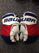 "Bauer APX2 Pro Stock Custom Hockey Gloves 15"" NY Rangers used MCILRATH"