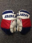 "Bauer APX2 Pro Stock Custom Hockey Gloves 15"" NY Rangers used MCILRATH (2)"