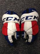 "CCM HGTKPP Pro Stock Custom Hockey Gloves 14"" Hartford Wolfpack used BOURQUE"