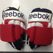 "Reebok STY 2 Pro Stock Custom Hockey Gloves 15"" Rochester Americans NEW THP"