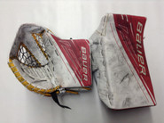 BAUER Supreme 1S Goalie Catcher and Blocker McKENNA Pro Stock Springfield Thunderbirds AHL Full Right