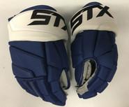 """STX Stallion 500 Pro Stock Custom Hockey Gloves 14"""" Tampa Bay Lightning NHL"""