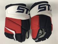 "STX Stallion 500 Pro Stock Custom Hockey Gloves 15"" Washington Capitals NEW"