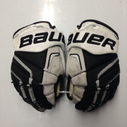 "Bauer APX2 Pro Stock Custom Hockey Gloves 13"" Providence Friars NCAA Used"