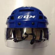 CCM VECTOR VO8 PRO STOCK HOCKEY HELMET ROYAL BLUE MEDIUM SYRACUSE CRUNCH #16 AHL