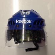 REEBOK HT 11K PRO STOCK HOCKEY HELMET ROYAL BLUE MEDIUM SYRACUSE CRUNCH #39 AHL