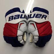 "Bauer APX2 Pro Stock Custom Hockey Gloves 15"" NY Rangers used MCILRATH (3)"