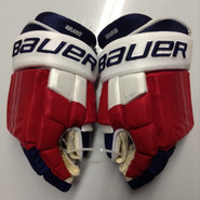 "Bauer E-Pro Custom Hockey Gloves Pro Stock 15"" Wide NHL Girardi NY Rangers used"