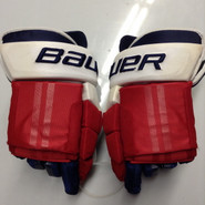 "Bauer E-Pro Custom Hockey Gloves Pro Stock 15"" Wide NHL Girardi NY Rangers used (6)"