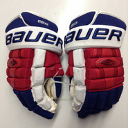 "Bauer Nexus 1000 Pro Stock Custom Hockey Gloves 15"" NY Rangers Stepan used"