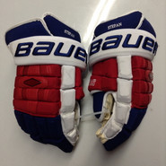 "Bauer Nexus 1000 Pro Stock Custom Hockey Gloves 15"" NY Rangers Stepan used (2)"