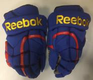 "Reebok 11KP Pro Stock Custom Hockey Gloves 13"" Norfolk Admirals NEW"