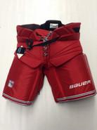 Bauer Custom Pro Stock Hockey Goal Pants Red XL X-Large New York Rangers BIRON