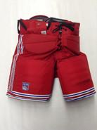 Vaughn Custom Pro Stock Hockey Goal Pants Red Large New York Rangers