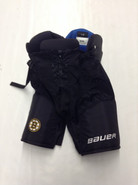 Bauer Nexus Custom Pro Stock Hockey Pants Black Large Boston Bruins NHL MOORE