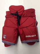 Bauer Custom Pro Stock Hockey Goal Pants Red XL X-Large New York Rangers VALIQUETTE