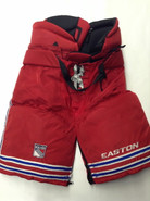 Easton Pro 15 Custom Pro Stock Hockey Pants Red Large New York Rangers NHL Used