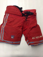 CCM HP45 Custom Pro Stock Hockey Pants Large New York Rangers NHL Used (3)