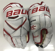 "BU Bauer Vapor 1X Pro Stock Custom Hockey Gloves 14"" BU Terriers New"