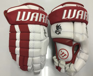 "BU Warrior AX1 Pro Stock Custom Hockey Gloves 14"" BU Terriers New"