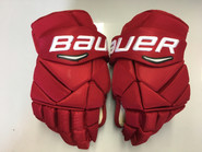"Miami Bauer Vapor 1X Pro Stock Custom Hockey Gloves 14"" Redhawks New"