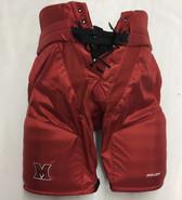 Miami Bauer Custom Pro Stock Hockey Pants Red Small Redhawks NCAA