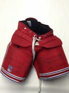 Vaughn Custom Pro Stock Hockey Goal Pants Red Large New York Rangers Used