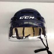 CCM VECTOR VO8 PRO STOCK HOCKEY HELMET NAVY BLUE SMALL NHL