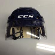 CCM VECTOR VO8 PRO STOCK HOCKEY HELMET NAVY BLUE SMALL  AHL WOLF PACK #36