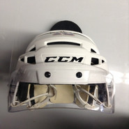 CCM VECTOR V08 PRO STOCK HOCKEY HELMET WHITE MEDIUM AHL #10