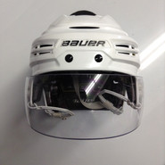 BAUER RE AKT 100 PRO  PRO STOCK HOCKEY HELMET WHITE MEDIUM NHL