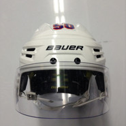 BAUER REAKT  PRO STOCK HOCKEY HELMET WHITE SMALL NEW YORK RANGERS NHL #50