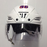 WARRIOR COVERT PX2 PRO STOCK HOCKEY HELMET WHITE MEDIUM NEW YORK RANGERS NHL #96