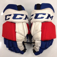 "CCM HGTKPP Pro Stock Custom Hockey Gloves 14"" NY Rangers NHL #82 used"