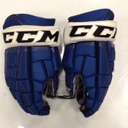 """CCM U+ CL Pro Stock Custom Hockey Gloves 14"""" Syracuse Crunch AHL used #11"""