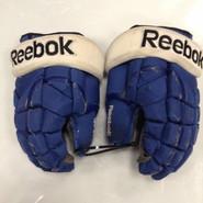 "Reebok 11KP Pro Stock Custom Hockey Gloves 13"" Syracuse Crunch AHL used #63"