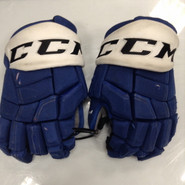 "CCM HGQL Pro Stock Custom Hockey Gloves 14"" Syracuse Crunch AHL  #3 used"