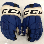 "CCM HGTKPP Pro Stock Custom Hockey Gloves 14"" Syracuse Crunch  AHL TAORMINA used"