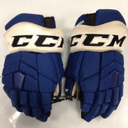 "CCM HGTKPP Pro Stock Custom Hockey Gloves 14"" Syracuse Crunch  AHL TAORMINA used (2)"