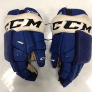 "CCM HGTK Pro Stock Custom Hockey Gloves 14"" Syracuse Crunch  AHL DOTCHIN used"