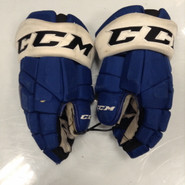"CCM HGTK Pro Stock Custom Hockey Gloves 14"" Syracuse Crunch  AHL used #92"