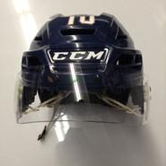 CCM RESISTANCE PRO STOCK HOCKEY HELMET NAVY BLUE MEDIUM SPRINGFIELD THUNDERBIRDS #10 AHL