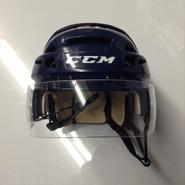 CCM VECTOR VO8 PRO STOCK HOCKEY HELMET NAVY BLUE SMALL  AHL WOLF PACK #21
