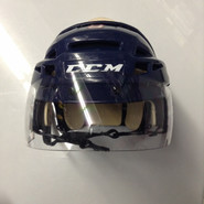CCM VECTOR VO8 PRO STOCK HOCKEY HELMET NAVY BLUE SMALL  AHL WOLF PACK #9
