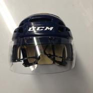 CCM VECTOR VO8 PRO STOCK HOCKEY HELMET NAVY BLUE SMALL  AHL WOLF PACK #7