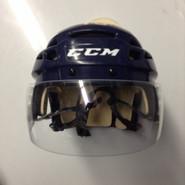 CCM VECTOR VO8 PRO STOCK HOCKEY HELMET NAVY BLUE SMALL  AHL WOLF PACK #13