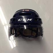 CCM VECTOR VO8 PRO STOCK HOCKEY HELMET NAVY BLUE SMALL  AHL WOLF PACK #15