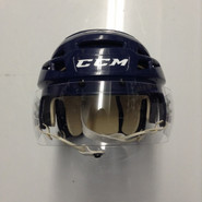 CCM VECTOR VO8 PRO STOCK HOCKEY HELMET NAVY BLUE SMALL  AHL SPRINGFIELD THUNDERBIRDS #39